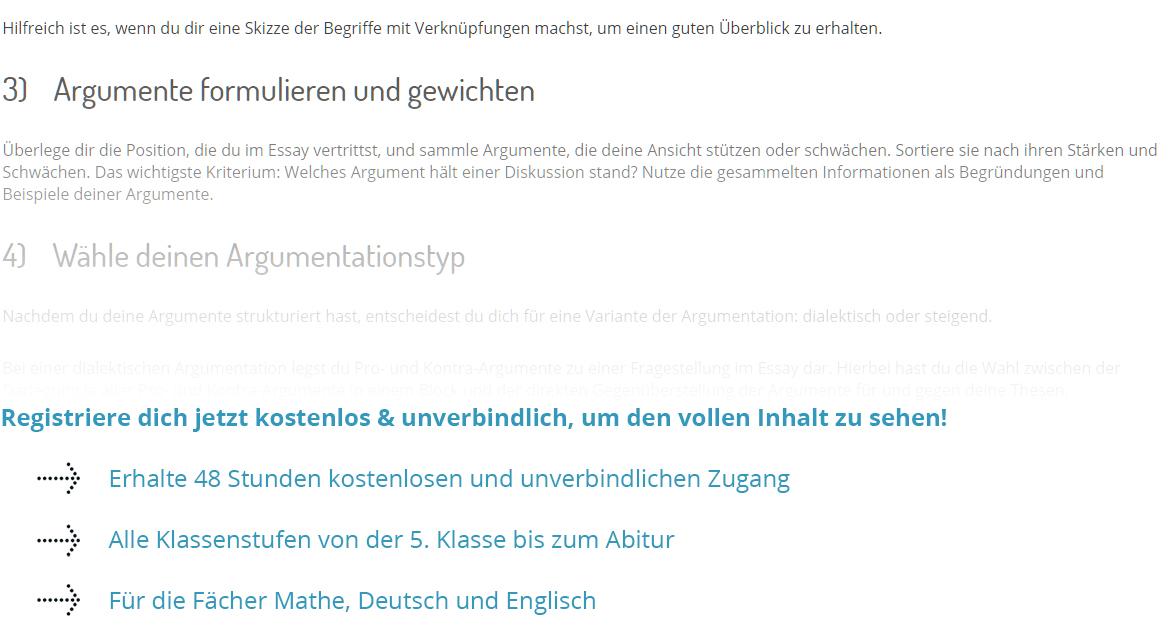 Englisch aufsatz schluss chemie deutsch lehramt