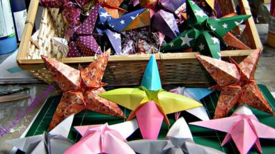 Bastelideen Origamistern