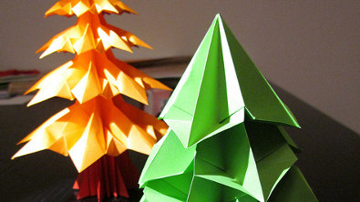 Bastelideen Origami Weihnachten